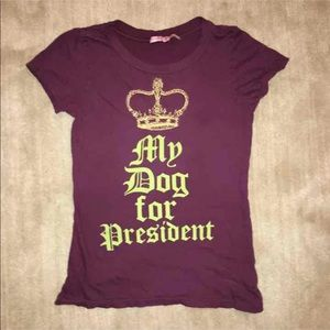 Juicy Couture Small Maroon President T-shirt EUC